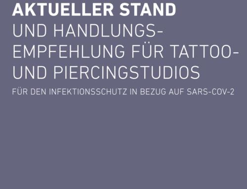 Aktueller Stand und Handlungsempfehlung für Tattoo- und Piercingstudios für den Infektionsschutz in Bezug auf SARS-CoV-2