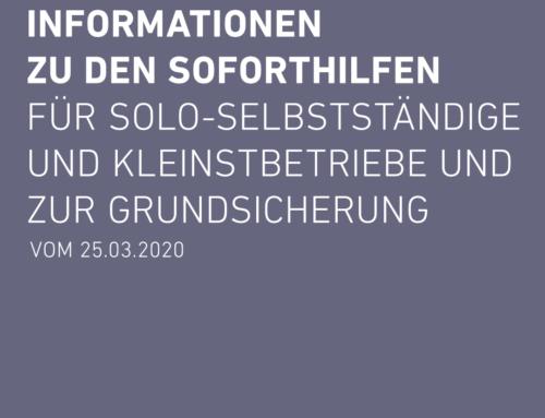 Informationen zu den Soforthilfen für Solo-Selbstständige und Kleinstbetriebe und zur Grundsicherung