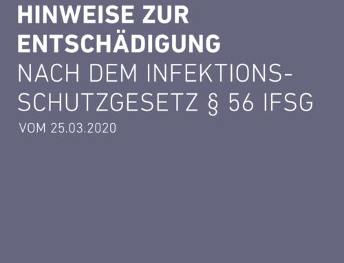 Hinweise zur Entschädigungnach dem Infektionsschutzgesetz § 56 IfSG