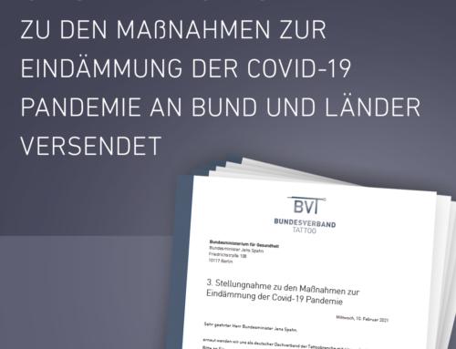 3. Stellungnahme zu den Maßnahmen zur Eindämmung der Covid-19 Pandemie an Bund und Länder